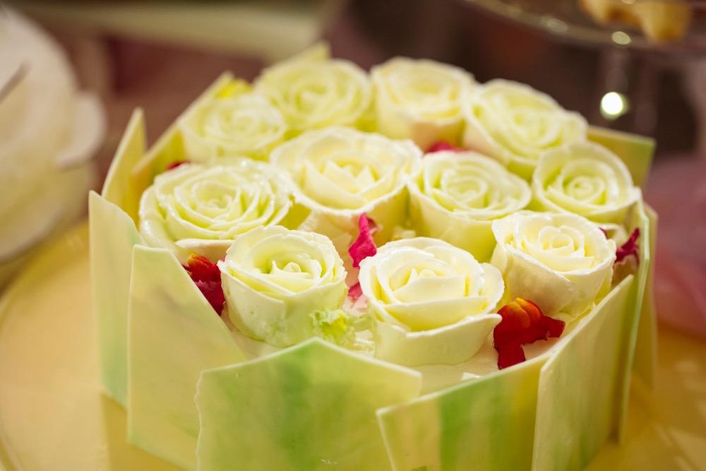 片思いは本気 メロンとマスカルポーネ 花束クリームケーキ