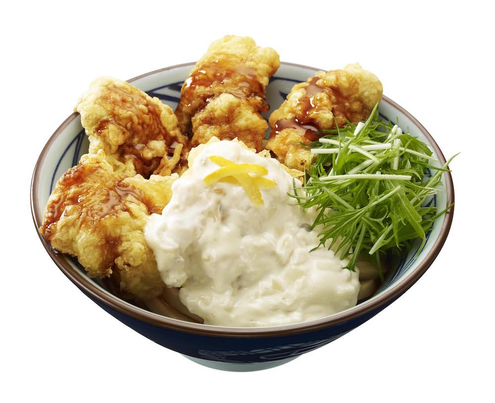 丸亀製麺 うどん「タル鶏天ぶっかけ」