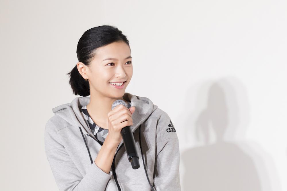 榮倉奈々さんが「adidas MeCAMP STUDIO(アディダス ミーキャンプ スタジオ)」のオープニングセレモニーに登場
