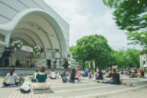「Tokyo Wedding Showcase」で開催されたヨガ