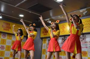 Wi-Fi-5(ワイファイファイブ)タワーレコード リリースイベント(紗英・さぃもん・高野渚・白鳥来夢)渋谷タワーレコードでのリリースイベント 2018年6月6日