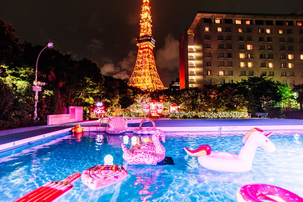 CanCam×Tokyo Prince Hotel Night Pool