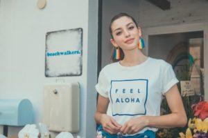 Celine Farach(セリーヌ・ファラッチ) @FEEL ALOHA Cafe(フィールアロハカフェ)江ノ島 Tシャツ