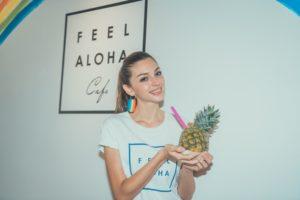 Celine Farach(セリーヌ・ファラッチ) @FEEL ALOHA Cafe(フィールアロハカフェ)江ノ島 パイナップル