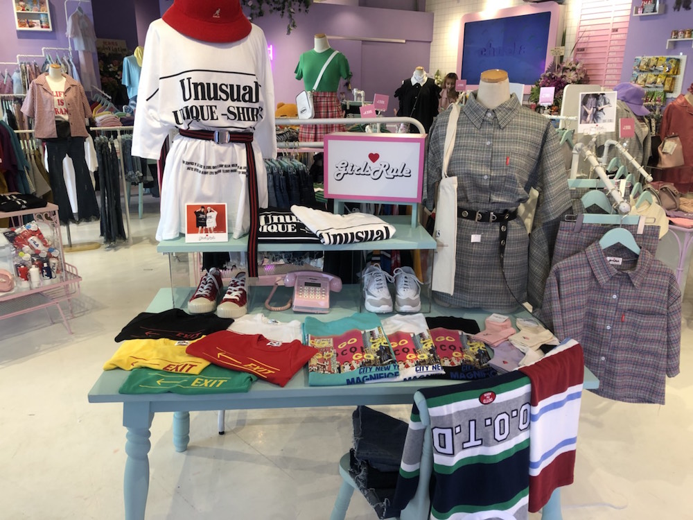 Chucla by SPINNS(チュコラバイスピンズ)店内。韓国の人気通販サイト【GIRLS RULE ガールズルール】をコーナー