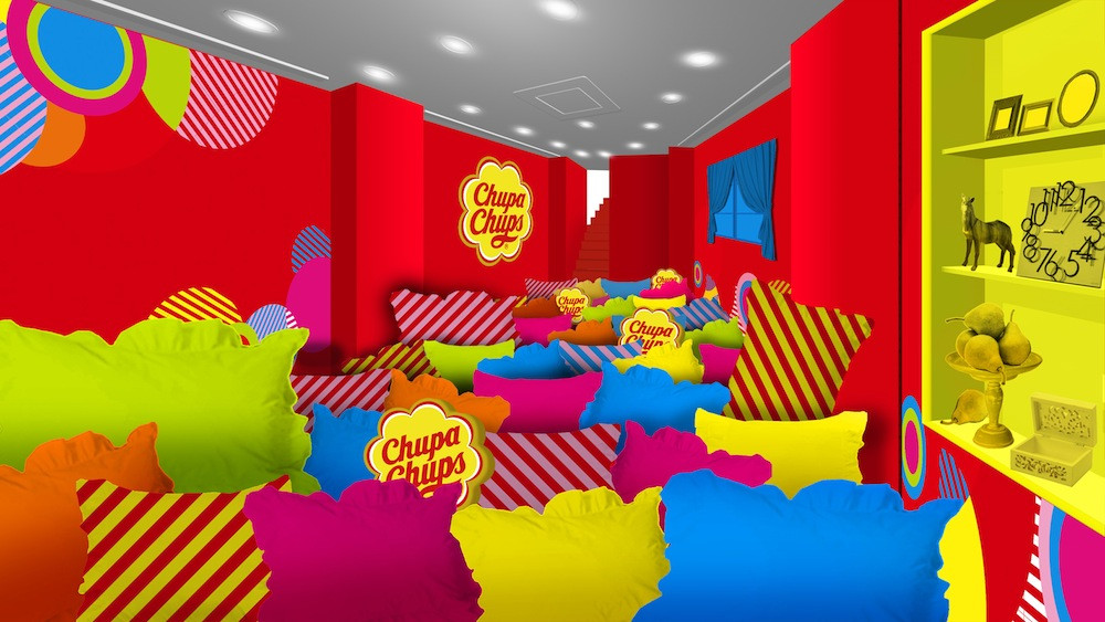 1F:PILLOW PLAY ROOM(チュッパチャプスの期間限定スポット「FOREVER FUN Chupa PLAY ROOM」)