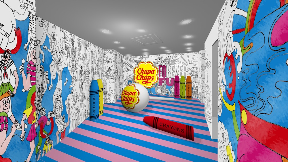2F:GRAFFITI PLAY ROOM(チュッパチャプスの期間限定スポット「FOREVER FUN Chupa PLAY ROOM」)