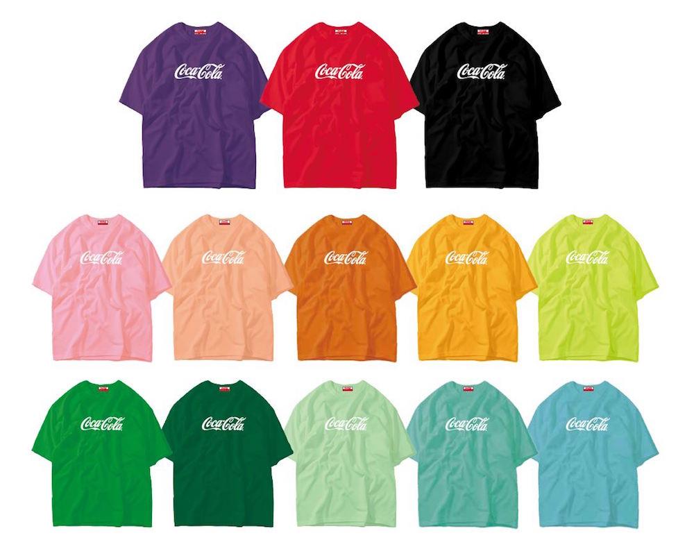 「コカ・コーラ」「コカ・コーラ ゼロ」のカラーボトル Tシャツ