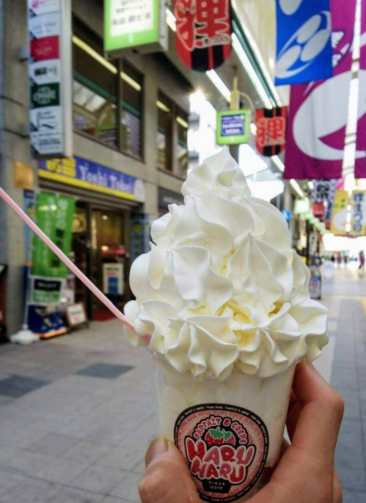 「生クリームパラダイス」❤【パフェ&クレープ ハルハル】