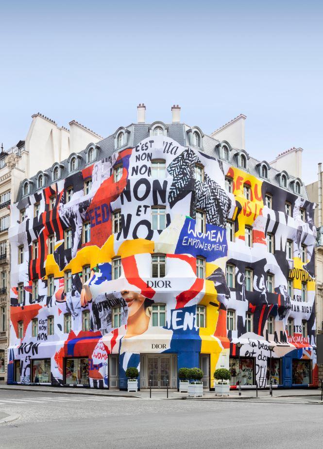 Diorパリ本店のブティックが、この夏、期間限定で大変身