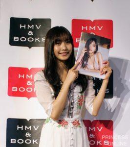 写真集『最高のひなこ』出版記念イベントに登場した 佐野ひなこさん