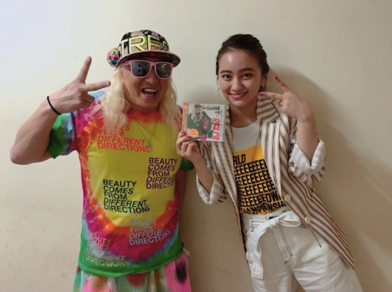 岡田結実さん、 DJ KOOさんとのら2ショット写真