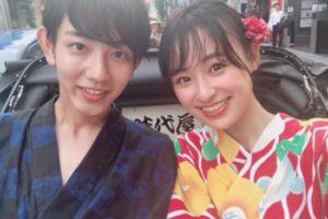 鈴木美羽(すずき みう)&きいた浴衣での2ショット写真