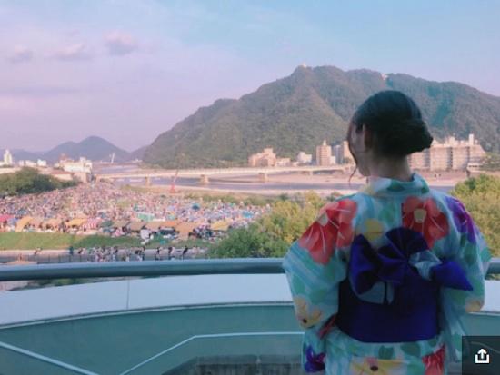 須田亜香里(SKE48)、岐阜の花火大会で浴衣ショット公開!