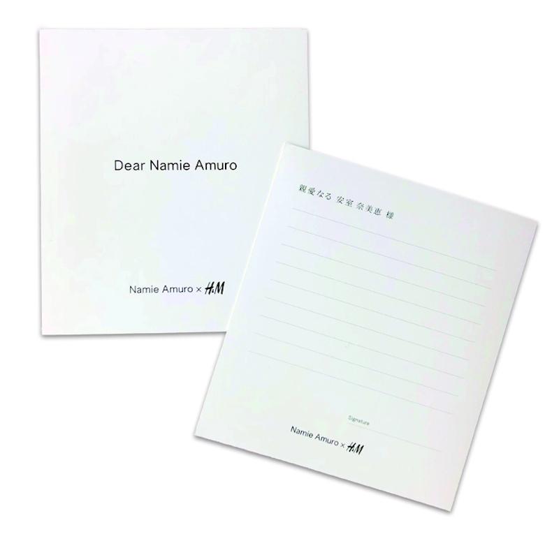 安室奈美恵「Namie Amuro x H&M」Letter(手紙)