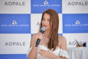 Niki(ニキ/モデル)in 海の家 @「AOPALE(アオパレ)」(紫外線対策)新商品発表会