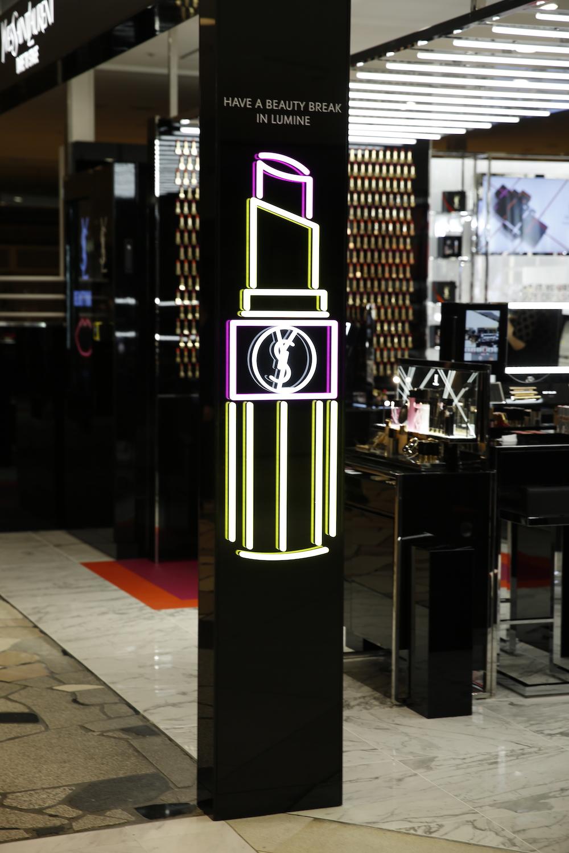 YSLメイクアップ コンセプトストア 「イヴ・サンローラン・ボーテ デア トゥ ステージ」ルミネ新宿店