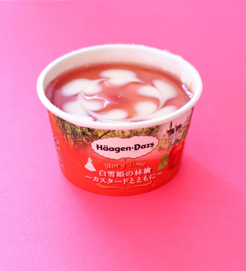 ハーゲンダッツ新商品「ストーリータイム」『白雪姫の林檎~カスタードとともに~』のハートマーク