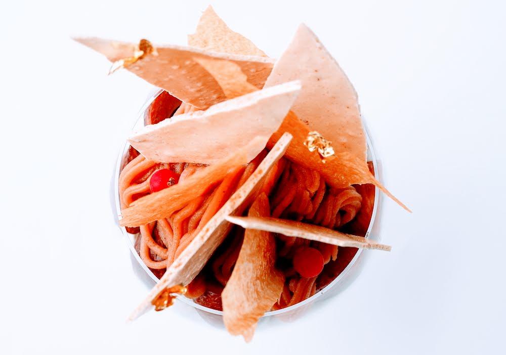 エンポリオ アルマーニ カフェ・10 月のパフェは、栗をたっぷりと使った「マロンづくしのパフェ」
