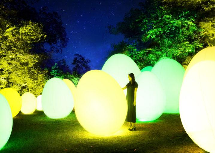 チームラボ 森と湖の光の祭(埼玉県飯能市にオープンする「メッツァビレッジ」の宮沢湖と湖畔の森をインタラクティブな光のアート空間に)