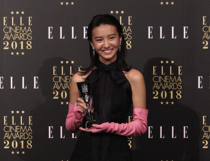 Kōki, (コウキ)、シャネルのドレス&ブルガリのジュエリーを身にまとい、「エル シネマアワード2018」に登壇!「エル・ガール ライジングスター賞」受賞!