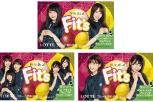 欅坂46、Fit'sと初コラボ !ロッテ「Fit's 欅坂46ガム<鳳梨×白葡萄> <林檎×檸檬>」