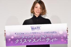 田中美保(モデル)/「Welch's 」presents 「ポリフェノールのある生活」〜「ウェルチ」カラーでクリスマスパーティー〜にて(2018年12月18日)