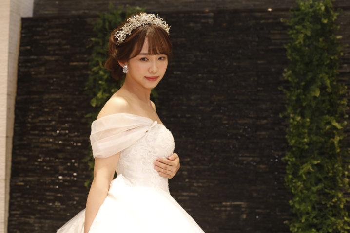 松村香織(SKE48)、ウェディングドレス姿でプレ結婚式!『SKE48 ZERO POSITION』にて。