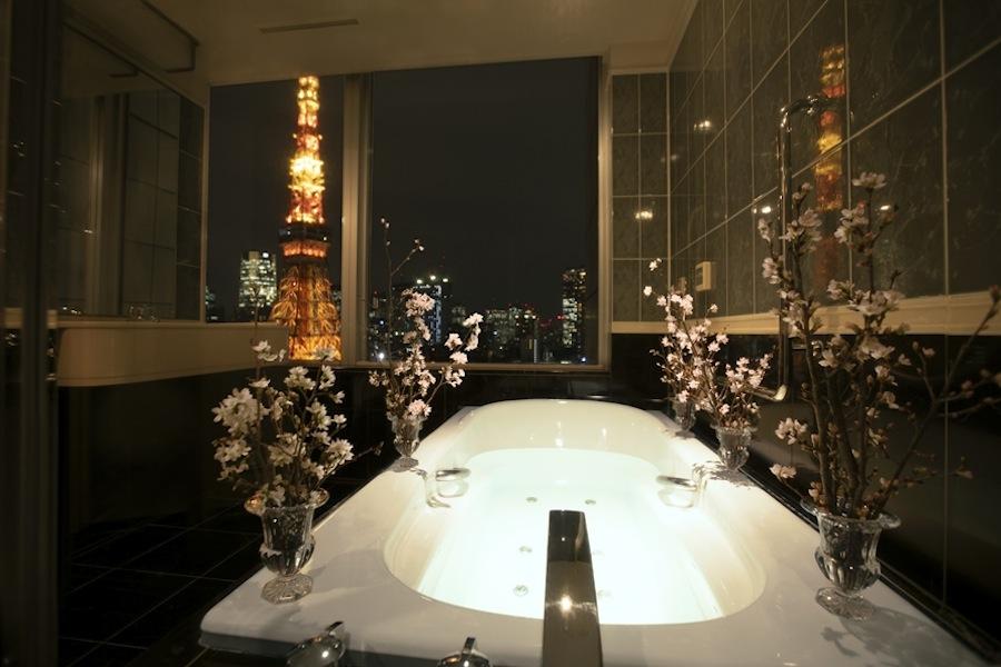 バスルームで東京タワーを眺めながらお花見❤「ザ・プリンス パークタワー東京」