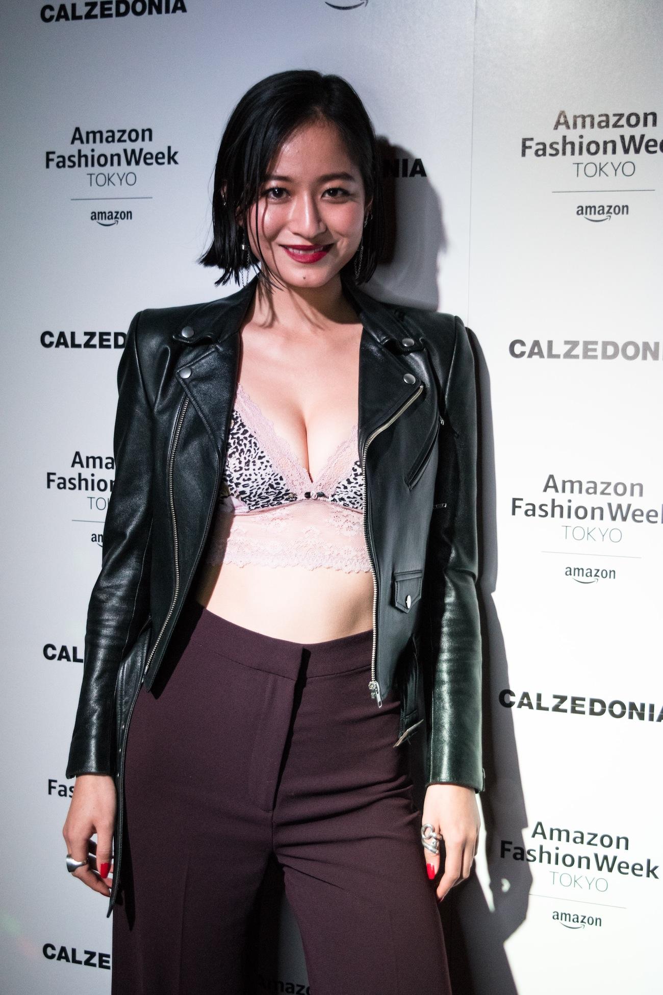 入夏(モデル)/2019年3月23日、Amazon Fashion Week TOKYOでの イタリアのレッグウェアブランド、Calzedonia (カルツェドニア )オフィシャルクロージングパーティ