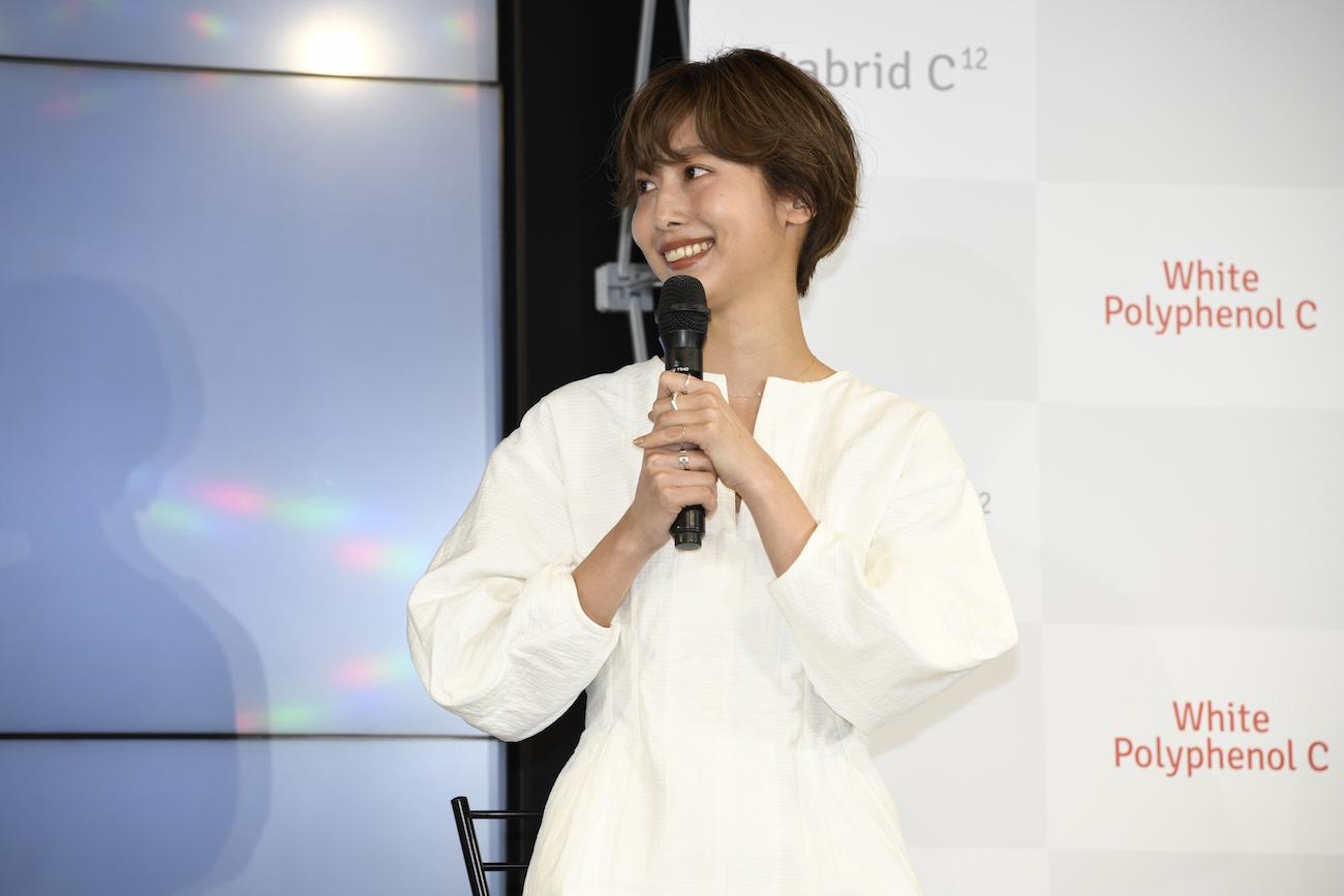 石田一帆/飲む太陽ケア ビタブリッド「ホワイトポリフェノールC」新製品発表会