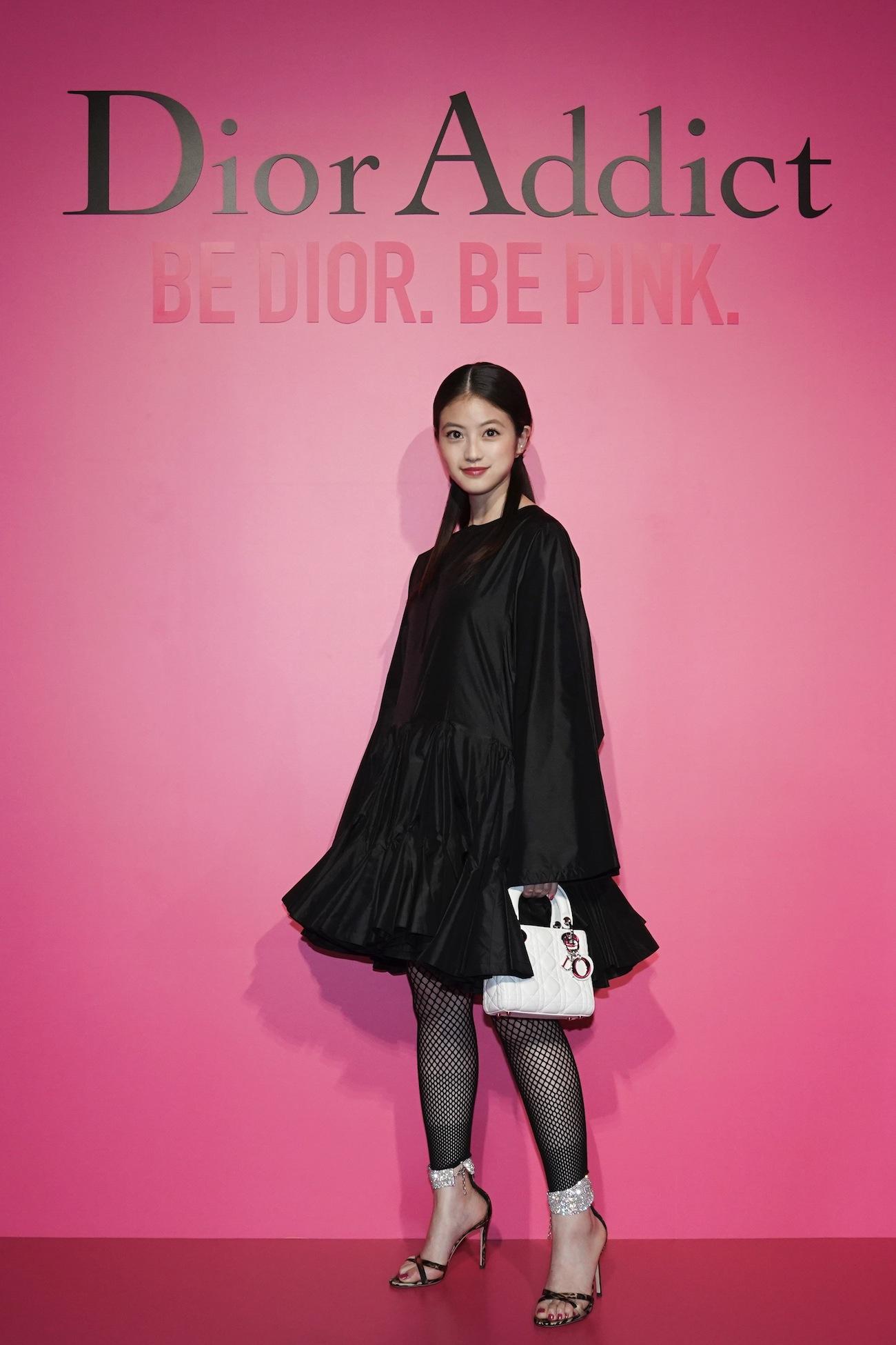 今田美桜「Dior Addict Stellar Shine(ディオール アディクト ステラー シャイン)」のローンチイベント(2019年4月2日、渋谷・hotelkoé tokyoにて)