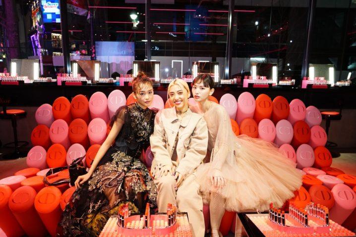 「Dior Addict Stellar Shine(ディオール アディクト ステラー シャイン)」のローンチイベント(2019年4月2日、渋谷・hotelkoé tokyoにて)