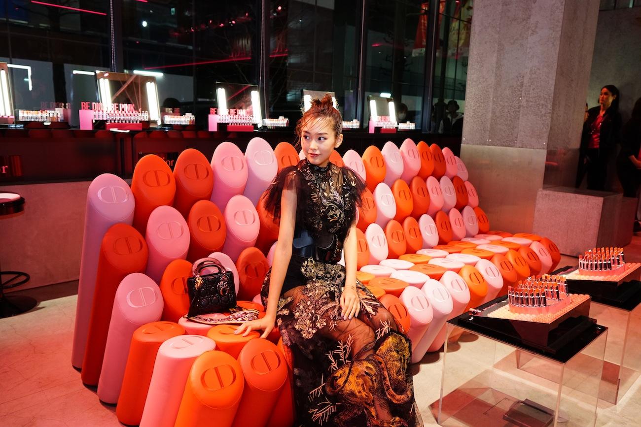 桐谷美玲「Dior Addict Stellar Shine(ディオール アディクト ステラー シャイン)」のローンチイベント(2019年4月2日、渋谷・hotelkoé tokyoにて)