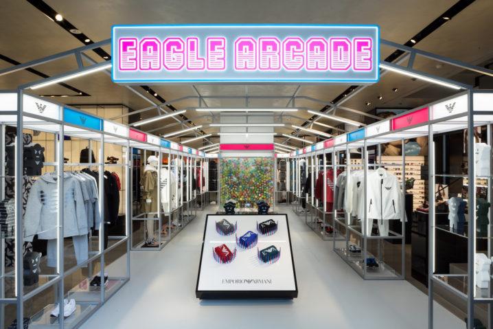 ポップアップストア「EMPORIO ARMANI EAGLE ARCADE」(2019年4月、エンポリオアルマーニ青山店にて)