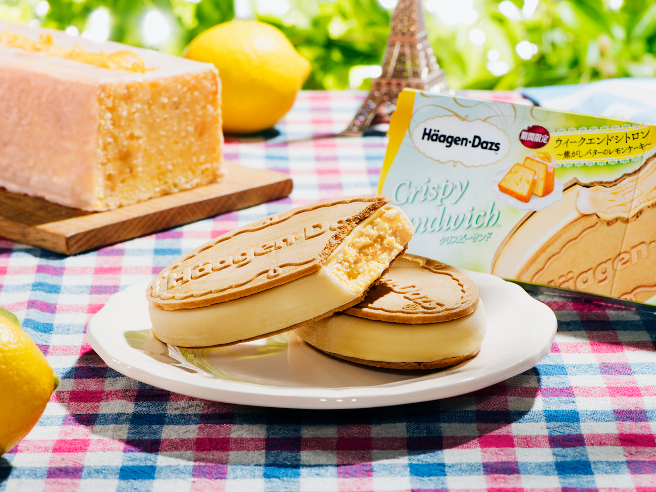 ハーゲンダッツ・クリスピーサンド『ウィークエンドシトロン ~焦がしバターのレモンケーキ~』