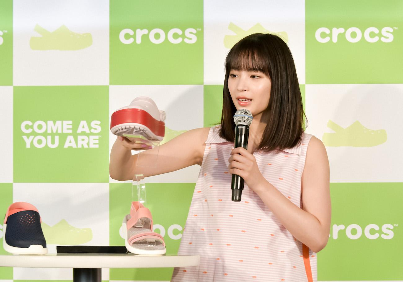 広瀬すず/クロックスのグローバルキャンペーン新アンバサダー記者発表会(2019年4月9日)
