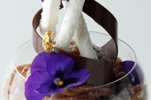 エンポリオ アルマーニ カフェ / 10月のパフェ「栗とカシス、洋梨のパフェ」