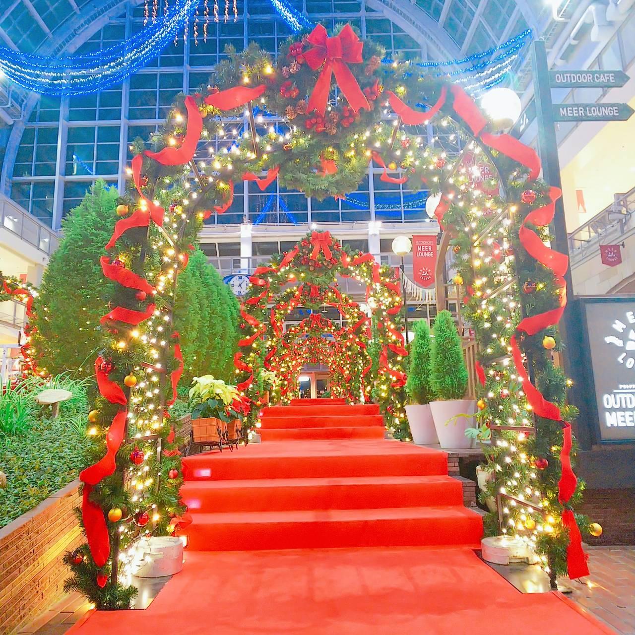 サッポロファクトリーのクリスマスアーチ/2019年11月26日、撮影:PRINCESS ONLINE事業部