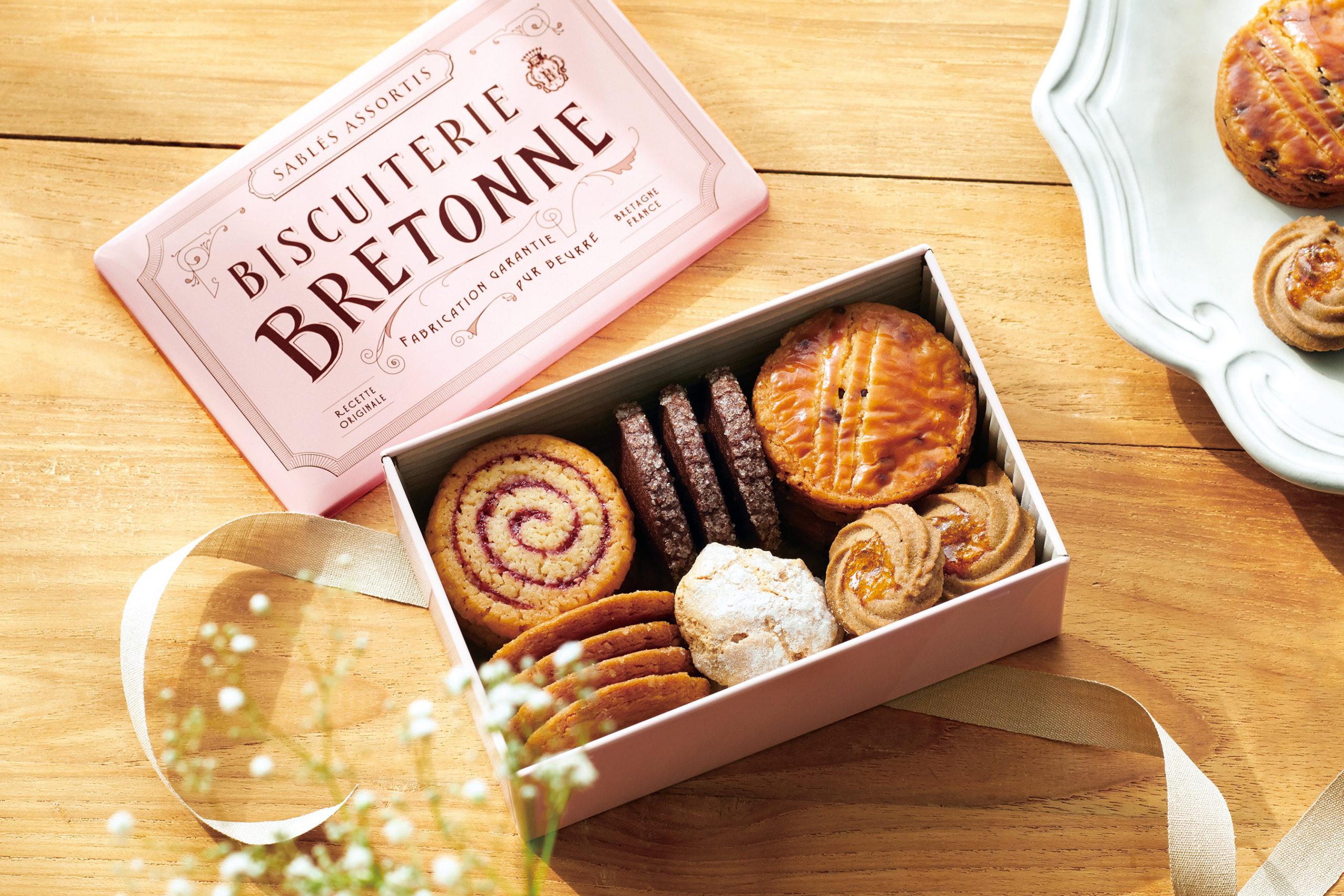 『ブルターニュ クッキーアソルティ〈缶〉ボヌール』/ ビスキュイテリエ ブルトンヌ